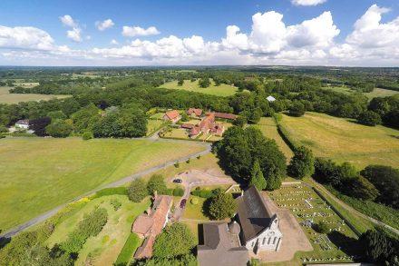 great-barn-sutton-park-sutton-green-drone