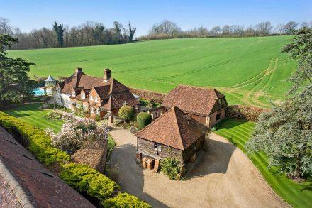 hoath-farm-house-harps-oak-lane-drone